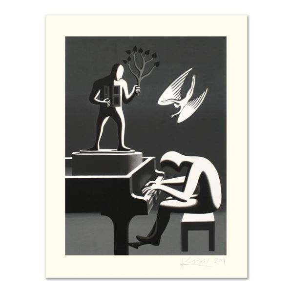"""Mark Kostabi, """"Cyclone Variations"""" Limited Edition Serigraph, Numbered and Hand"""