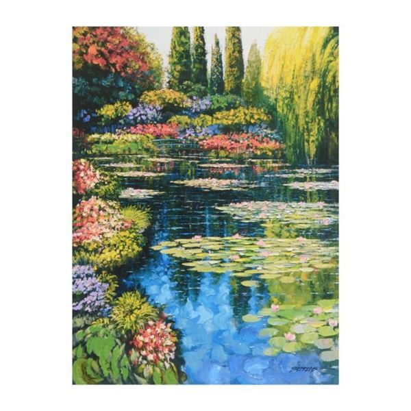 """Howard Behrens (1933-2014), """"Shimmering Waters Of Giverny"""" Limited Edition on Ca"""