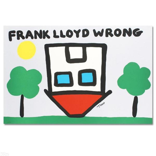 """""""Frank Lloyd Wrong"""" Limited Edition Lithograph by Todd Goldman, Numbered and Han"""
