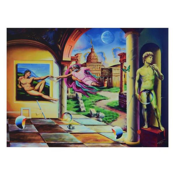"""Ferjo, """"Creation of a Man"""" Limited Edition on ped Canvas, Numbered and Signed wi"""