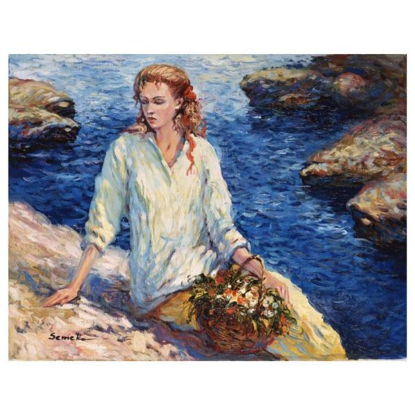 """Igor Semeko, """"High Tide"""" Hand Signed Limited Edition Giclee on Canvas with Lette"""