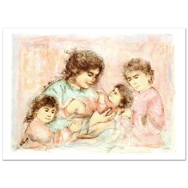 """""""Marilyn and Children"""" Limited Edition Lithograph (37"""" x 27"""") by Edna Hibel (191"""