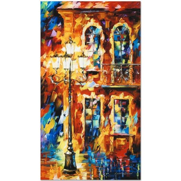 """Leonid Afremov (1955-2019) """"Old Light"""" Limited Edition Giclee on Canvas, Numbere"""