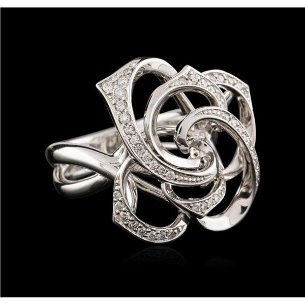 14KT White Gold 0.35 ctw Diamond Ring