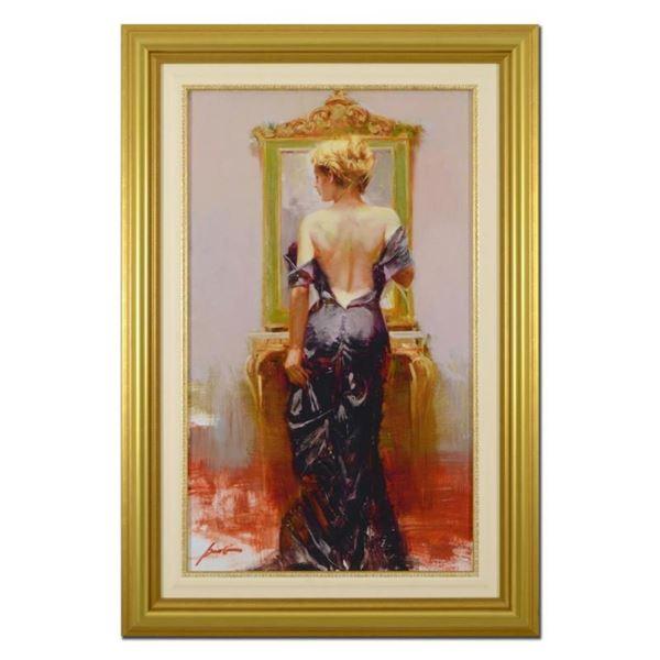 """Pino (1939-2010), """"Evening Elegance"""" Framed Limited Edition Artist-Embellished G"""