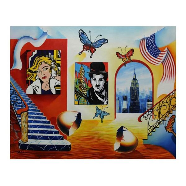"Alexander Astahov, ""Manhattan Vew"" Hand Signed Limited Edition Giclee on Canvas"