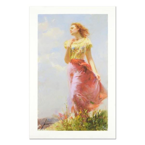 """Pino (1939-2010) """"Wind Swept"""" Limited Edition Giclee. Numbered and Hand Signed;"""
