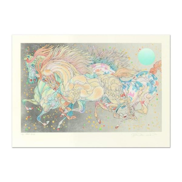 """Guillaume Azoulay, """"Stardust"""" Limited Edition Serigraph with Hand Laid Silver Le"""