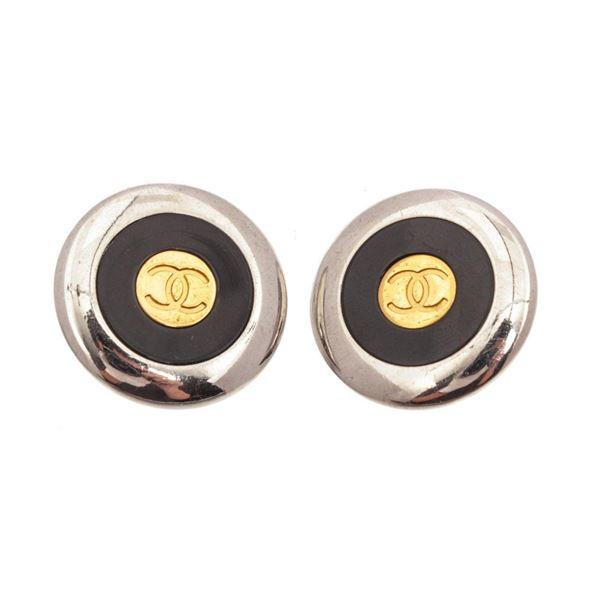 Chanel Black Earrings