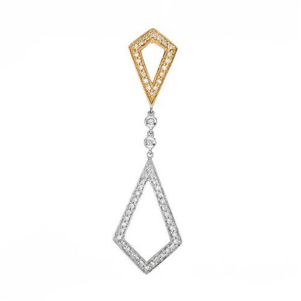 14k Yellow Gold 0.24CTW Diamond Pendant, (SI2-SI3/G-H)