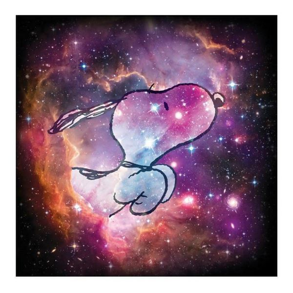 """Peanuts, """"Reach for the Stars"""" Hand Numbered Limited Edition Fine Art Print with"""