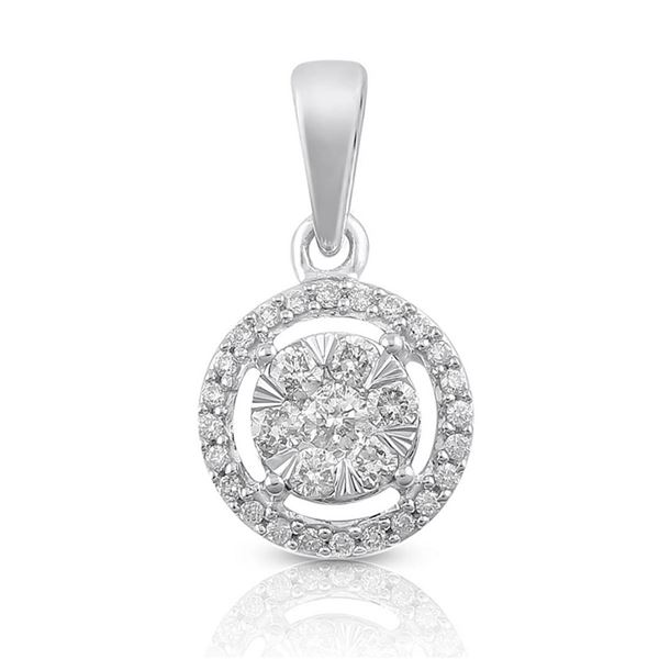 14K White Gold 0.25CTW Diamond Pendant Necklace, (SI3/H-I)