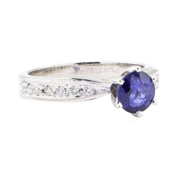 1.60 ctw Sapphire and Diamond Ring - Platinum