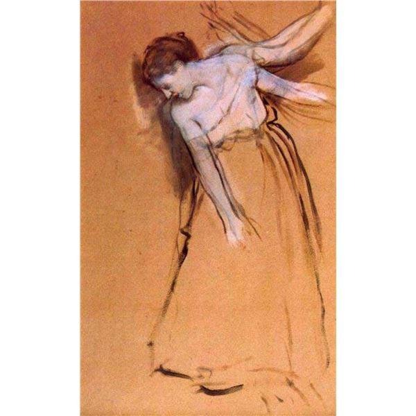 Edgar Degas - Standing With Arms Stretched, Bent To The Side