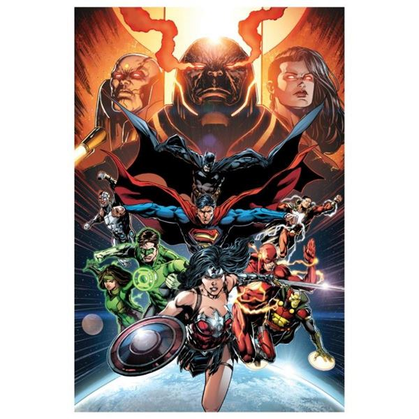 """DC Comics, """"Justice League, Darkseid War"""" Numbered Limited Edition Giclee on Can"""