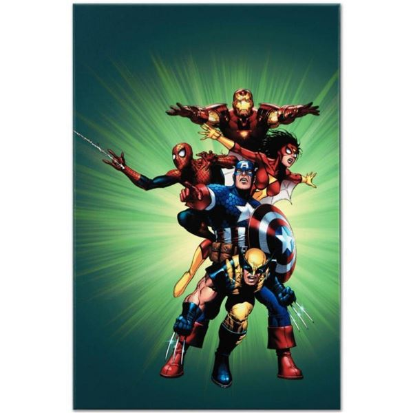 """Marvel Comics """"Wizard #136"""" Numbered Limited Edition Giclee on Canvas by Jim Che"""