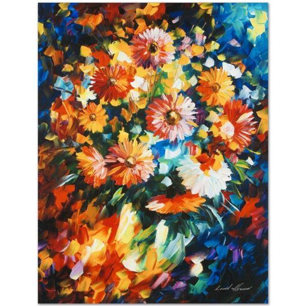 "Leonid Afremov (1955-2019) ""Magic Bouquet"" Limited Edition Giclee on Canvas, Num"