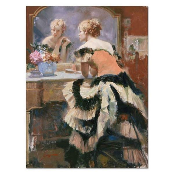 """Pino (1939-2010), """"Before the Show"""" Artist Embellished Limited Edition on Canvas"""
