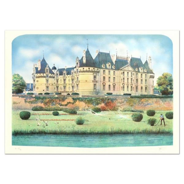 Rolf Rafflewski,  Chateau  Limited Edition Lithograph, Numbered and Hand Signed.