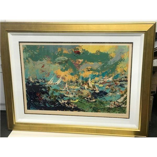 Spectators Fleet by LeRoy Neiman (1921-2012)