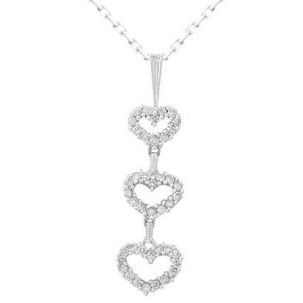 18k White Gold 0.49CTW Diamond Pendant, (SI2-SI3/H-I)