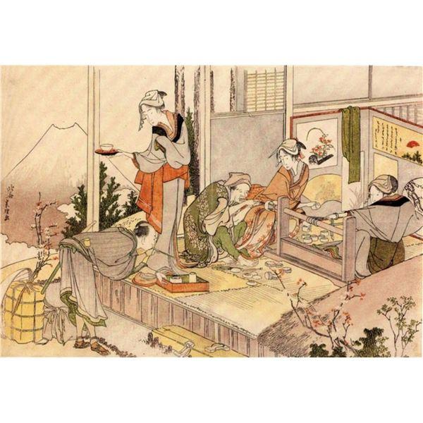 Hokusai - Close to Mount Fuji