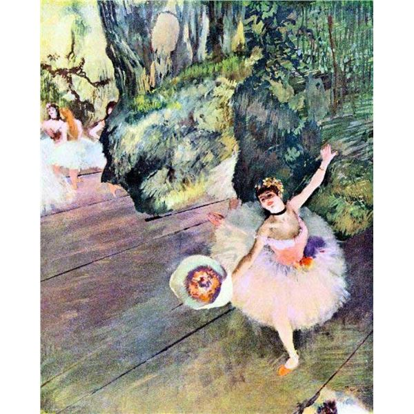 Edgar Degas - Dancer With A Bouquet Of Flowers (The Star Of The Ballet)