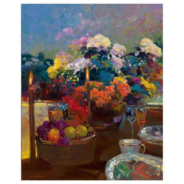 """Ming Feng, """"Candlelight Dinner"""" Limited Edition on Canvas, Numbered and Hand Sig"""