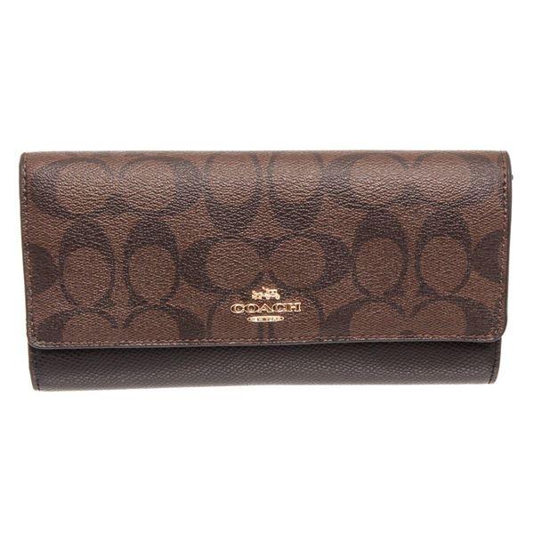 Coach Brown  Black Taylor Leather Slim Envelope Wallet