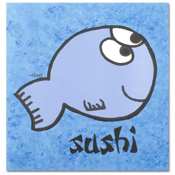 """""""Sushi"""" Limited Edition Lithograph by Todd Goldman, Numbered and Hand Signed wit"""