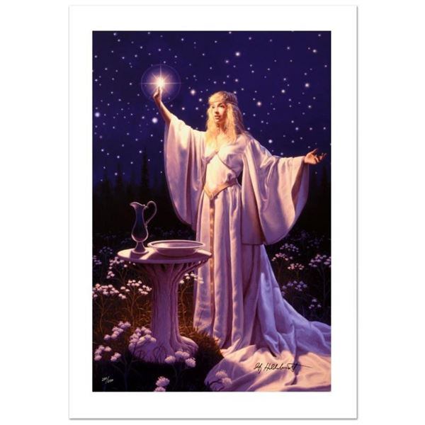 """""""The Ring Of Galadriel"""" Limited Edition Giclee on Canvas by Greg Hildebrandt. Nu"""