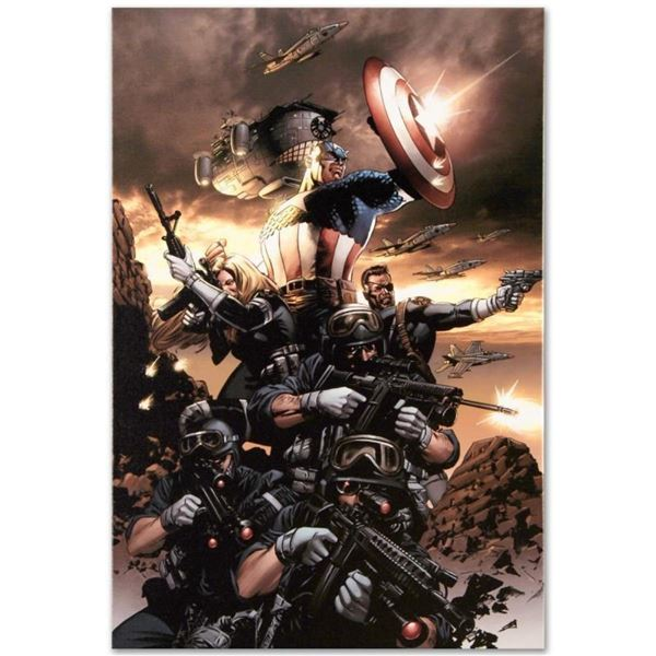 """Marvel Comics """"Captain America N9"""" Numbered Limited Edition Giclee on Canvas by"""