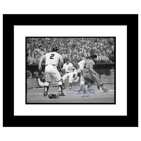 """""""Pete Rose, Fosse Collision"""" Framed Archival Photograph of the 1970 All-Star Gam"""