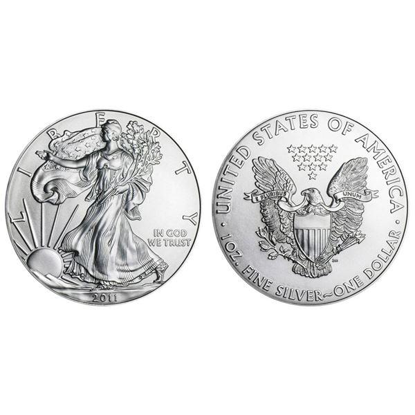 2011 American Silver Eagle .999 Fine Silver Dollar Coin