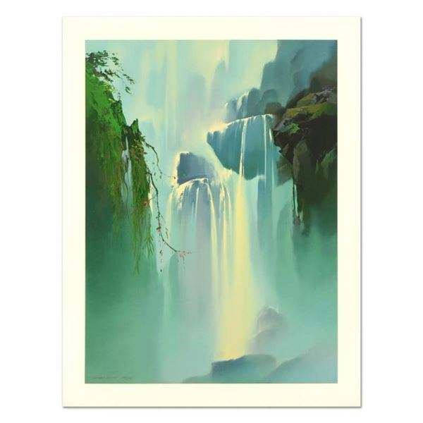 """Thomas Leung, """"Misty Falls"""" Limited Edition, Numbered and Hand Signed with Lette"""