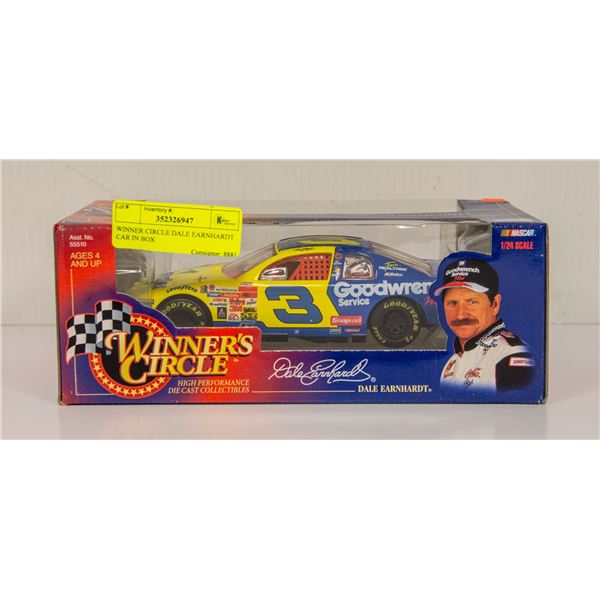 WINNER CIRCLE DALE EARNHARDT CAR IN BOX