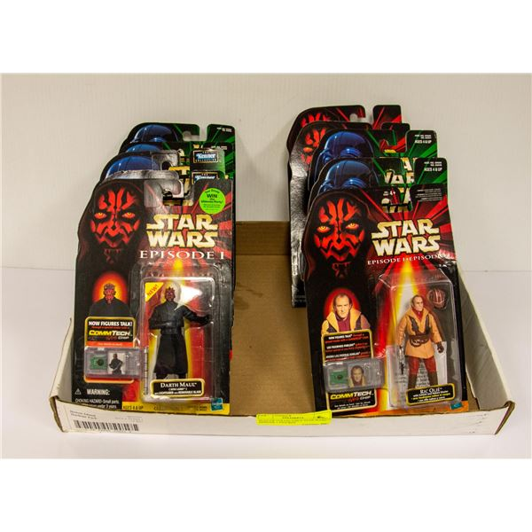 FLAT OF COLLECTIBLE STAR WARS EPISODE 1 FIGURES