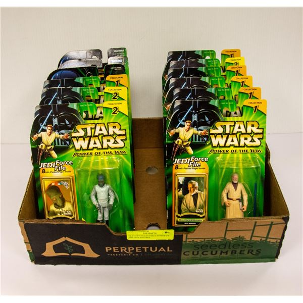 FLAT OF COLLECTIBLE POWER OF THE JEDI FIGURES