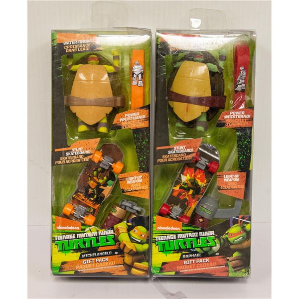 TEENAGE MUTANT NINJA TURTLES GIFT SET LOT OF 2