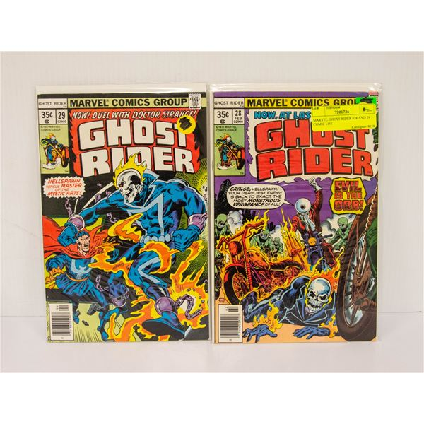 MARVEL GHOST RIDER #28 AND 29 COMIC LOT