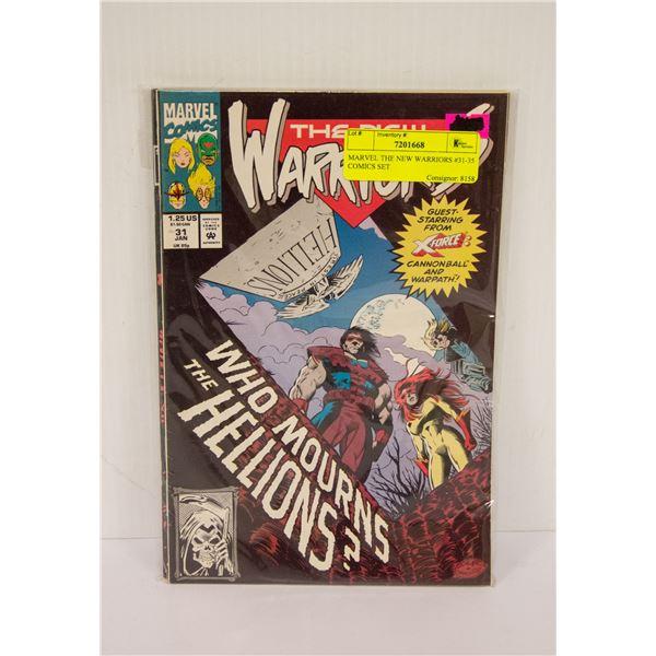 MARVEL THE NEW WARRIORS #31-35 COMICS SET
