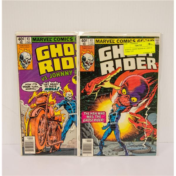 MARVEL GHOST RIDER #41 AND 43 COMIC LOT