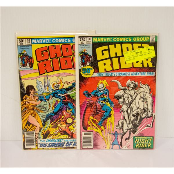 MARVEL GHOST RIDER #50 AND 52 COMIC LOT