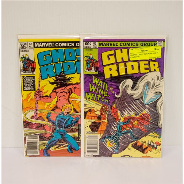 MARVEL GHOST RIDER #66 AND 68 COMIC LOT