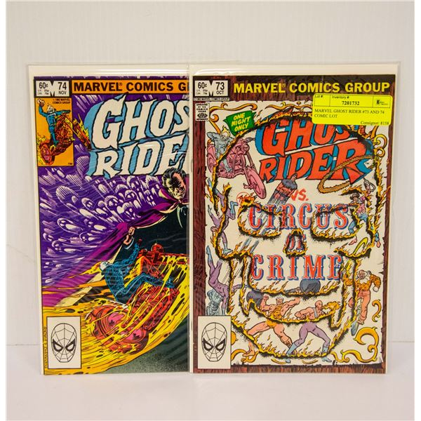 MARVEL GHOST RIDER #73 AND 74 COMIC LOT