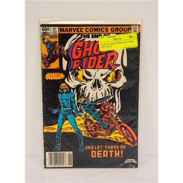 MARVEL GHOST RIDER #81 COMIC LAST ISSUE