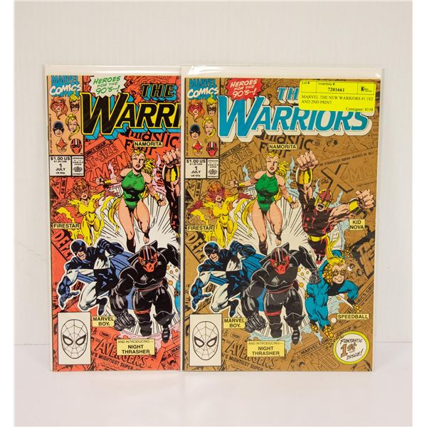 MARVEL THE NEW WARRIORS #1 1ST AND 2ND PRINT