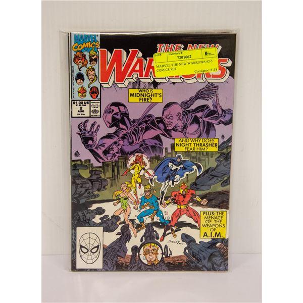 MARVEL THE NEW WARRIORS #2-5 COMICS SET