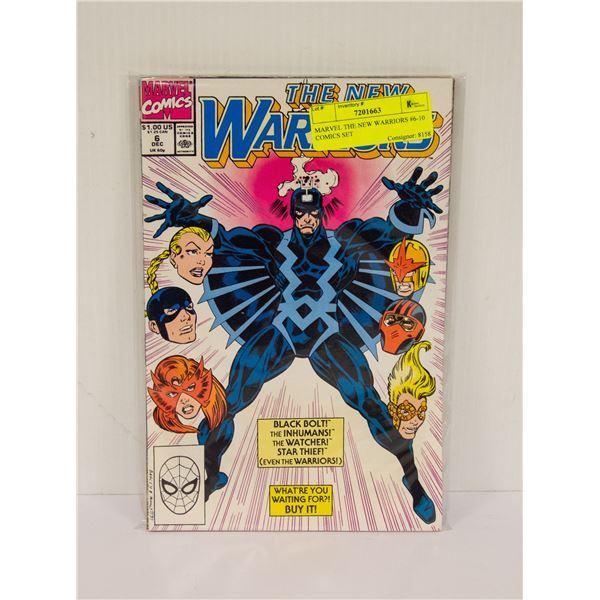 MARVEL THE NEW WARRIORS #6-10 COMICS SET