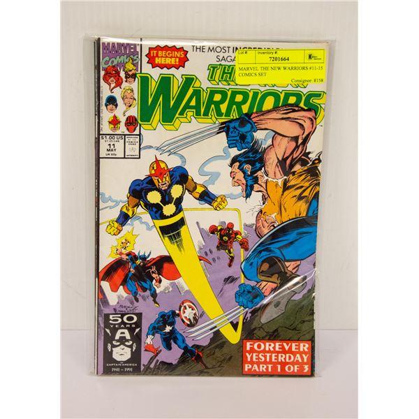 MARVEL THE NEW WARRIORS #11-15 COMICS SET